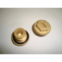 Bouchons laiton/joint (paire)